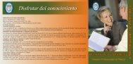 ORGANIZACIÓN DEL PROGRAMA Inicio y final del curso: octubre ...