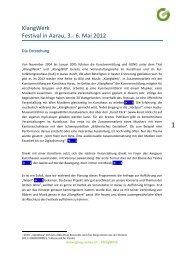 Detaillierte Informationen - Gong Aarau