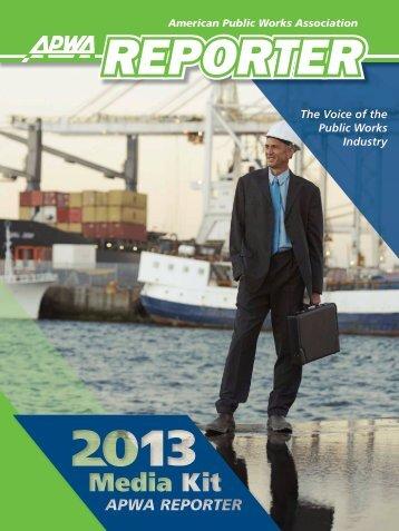 2013 Media Kit - American Public Works Association