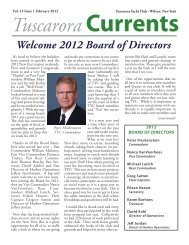 Vol 12 Issue 1 February 2012 - Tuscarora Yacht Club