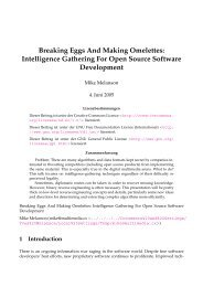 Breaking Eggs And Making Omelettes: Intelligence Gathering For ...