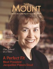 A Perfect Fit A Perfect Fit - Mount St. Mary's College