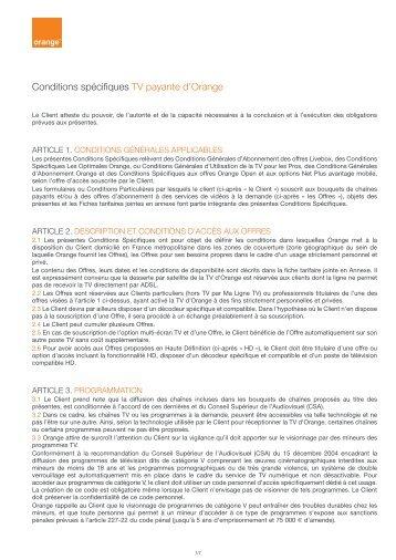 La liste des services dis - Orange optimale pro office ...