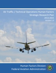 Strategic Plan - FAA Human Factors