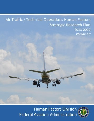 Strategic Plan - FAA Human Factors