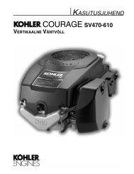 COURAGE SV470-610 - Kohler Engines
