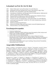 Lebenslauf von Prof. Dr. Iris M. Heid