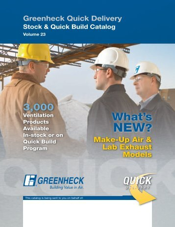 Stock & Quick Build Catalog - Greenheck
