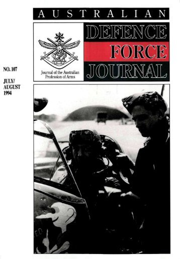ISSUE 107 : Jul/Aug - 1994 - Australian Defence Force Journal