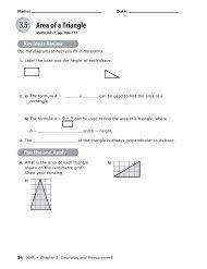 3.5 Area of a Triangle