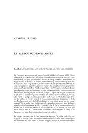 LE FAUBOURG MONTMARTRE - Presses des Mines