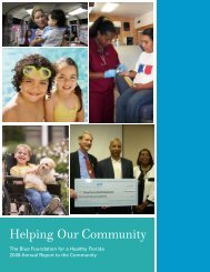 Helping Our Community - Florida Blue