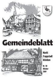 Gemeindeblatt Oktober 2009