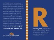 Richtlijnen - Prins Bernhard Cultuurfonds