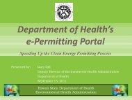 Department of Health's e-Permitting Portal
