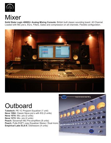 Mixer Outboard - The Sonic Factory