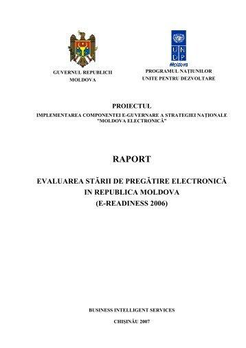 Evaluarea stării de pregătire electronică în Republica ... - Bis.md