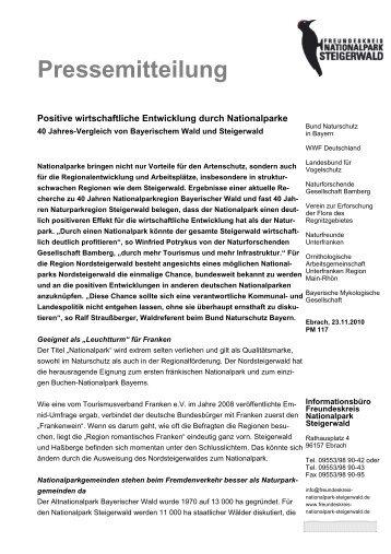Pressemitteilung des Freundeskreises Nationalpark Steigerwald