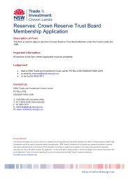 Reserves: Crown Reserve Trust Board Membership Application - Land