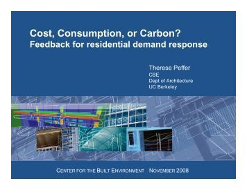 Test results: Cost, Consumption or Carbon?