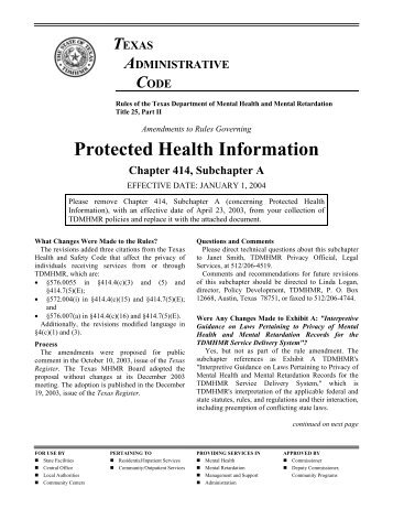 notice of hearing by facility review board - Mental Health Connection