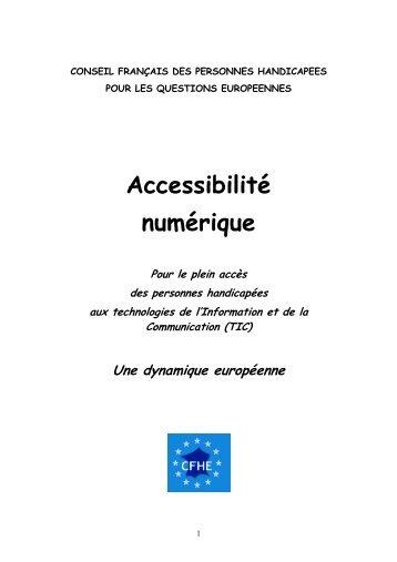 Accessibilité numérique - Handicap International