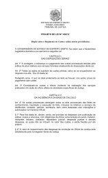 PROJETO DE LEI N.º 438/12 Dispõe sobre o Regimento de Custas ...