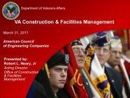 VA Construction & Facilities Management - American Council of ...