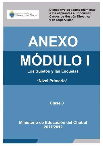 Apartado I - Ministerio de Educación de la Provincia del Chubut