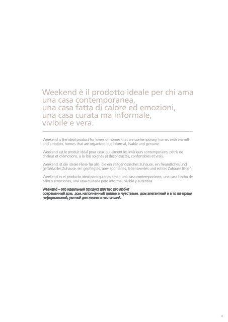 WeeKend - Marazzi