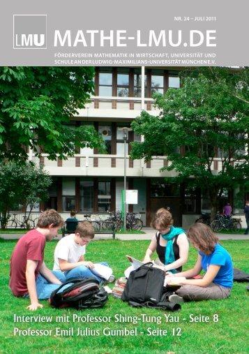 Probestudium Mathematik – LMU-Mathe- Sommer 2011