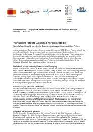 Medienmitteilung - Energie Network Schweiz