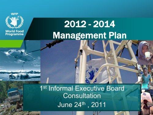 2012-2014 Management Plan - WFP Remote Access Secure Services