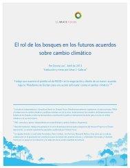 El rol de los bosques en los futuros acuerdos sobre cambio ... - ielat