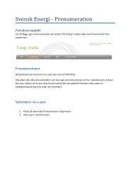 Här hittar du en manual för portalen. - Svensk energi