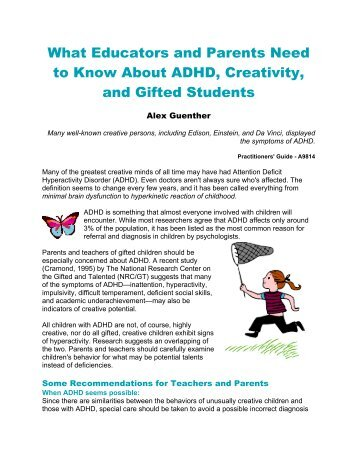 what do teachers know about adhd