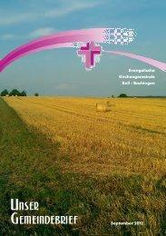 Gemeindebrief Herbst 2012 - Evangelische Kirchengemeinde Boll ...