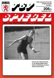 Neueste Ausgabe des TSV-Spiegels 3/2012 - beim TSV Wasserburg