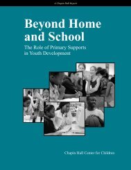Beyond Home and School: The Role of Primary Supports ... - MOST.ie