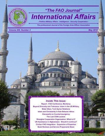 The FAO Journal International Affairs - Faoa