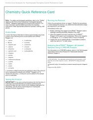Chemistry Quick Reference Card (4445543B) - AB Sciex