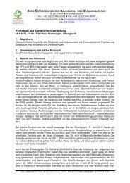 Protokoll zur Generalversammlung - Baumschulinfo