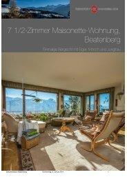 7 1/2-Zimmer Maisonette-Wohnung, Beatenberg - newkey.ch
