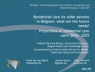 Residential care for older persons in Belgium: what are the future ...