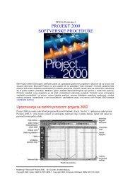 PROJECT 2000 - Softverske procedure