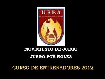 Clase 8 - CER 2012 - Movimiento Gral. del Juego - URBA