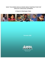 What Teachers Should Know about Instruction for ELLs - Education ...