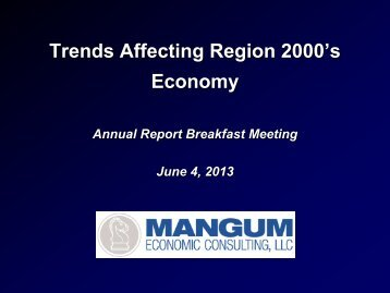 2013 Regional Economic Report - Virginia's Region 2000