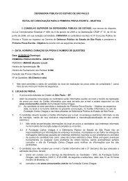 Edital de convocação para a primeira prova escrita ... - Defensoria