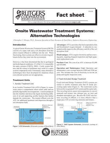 Onsite Wastewater Treatment Systems: Alternative Technologies